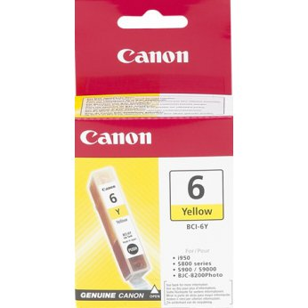 Inkoustová cartridge yellow Canon BCI-6Y 4708A002 pro i865/i9950 iP4000/iP5000/iP6000D MP750