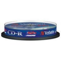 CD-R Verbatim Datalife 700 MB 80 min 52x - spindl 10 ks