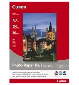 Papír ink Canon SG-201 A3 Photo Paper Plus Semi Gloss A3 / 20 ks, 260g (1686B026)