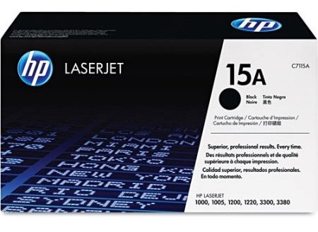 Cartridge toner black HP C7115A č. 15A černý LJ 1000w/ 1005w/ 1200/ 1220/ 3300/ 3330/ 3380, 2500 str