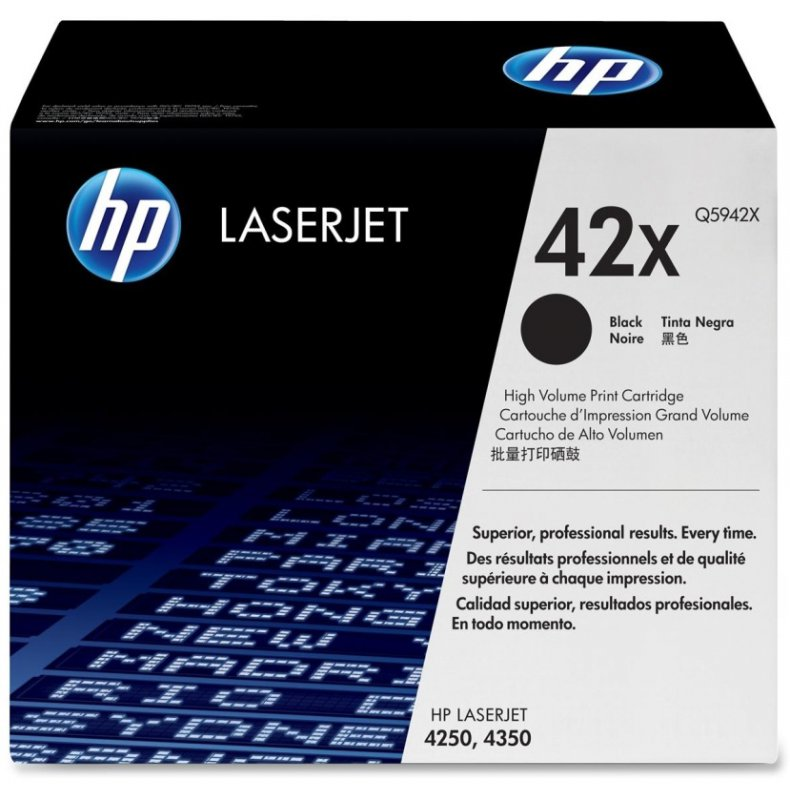 Cartridge toner black HP HEWLETT PACKARD Q5942X pro LJ 4250/4350